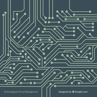Tecnologia sfondo con circuito