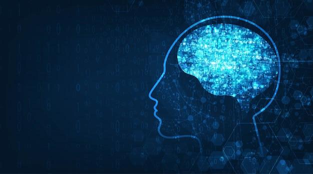 Tecnologia sfondo di intelligenza artificiale