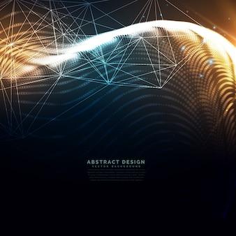 Tecnologia sfondo ondulato realizzato con particelle di particelle