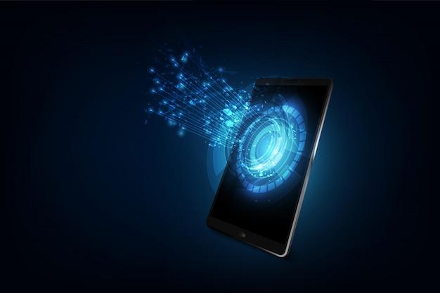 Tecnologia smart phone, connessione di rete