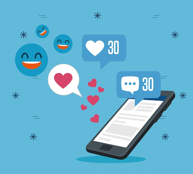 Tecnologia smartphone con messaggio di profilo sociale
