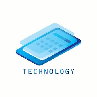 Tecnologia smartphone isometrica