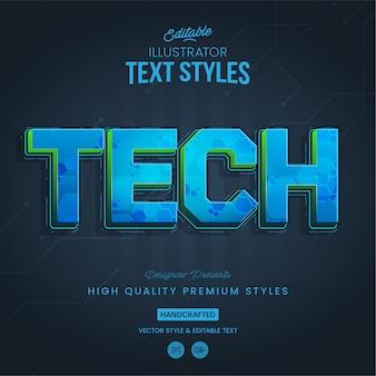 Tecnologia stile futuristico del testo