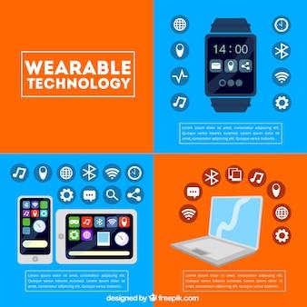 Tecnologia template indossabile