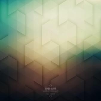 Tecnologia vettoriale astratto sfondo geometrico retrò