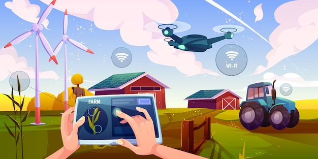Tecnologie futuristiche in fattoria
