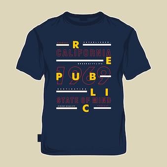 Tees grafico tipografia nuovo concetto