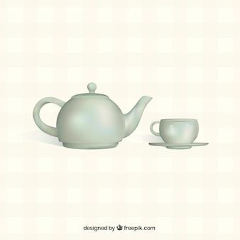 Teiera con coppa
