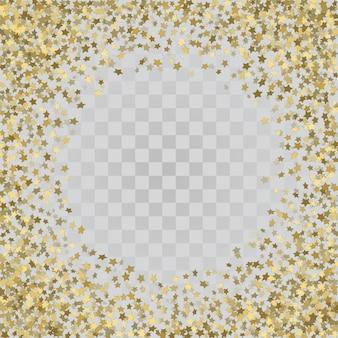 Telaio vector di coriandoli oro.