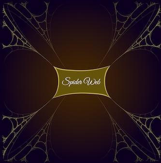 Telaio web spider oro con contenuto etichetta centrale