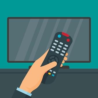 Telecomando e tv, stile piatto