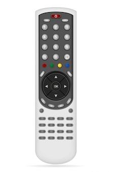 Telecomando per illustrazione vettoriale di apparecchiature audio video