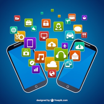 Telefoni cellulari free vector graphics