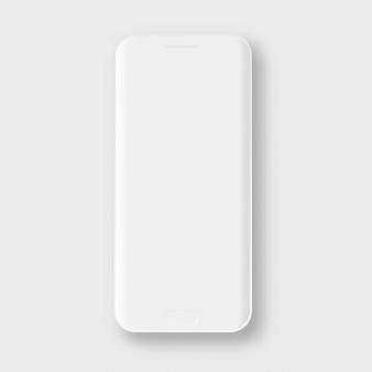 Telefono cellulare bianco smartphone di argilla