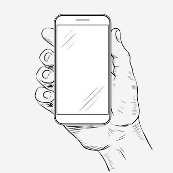 Telefono cellulare in mano