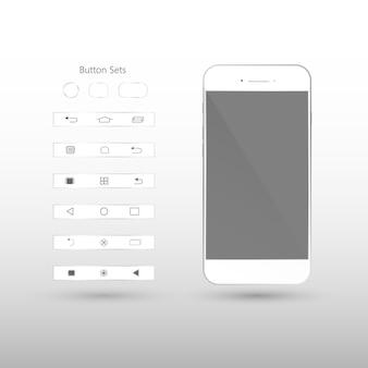 Telefono cellulare isolato con schermo vuoto