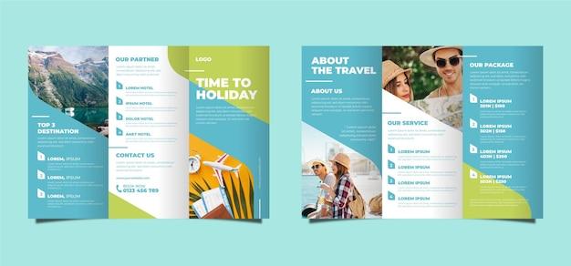 Tema astratto brochure a tre ante