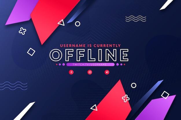 Tema banner twitch offline