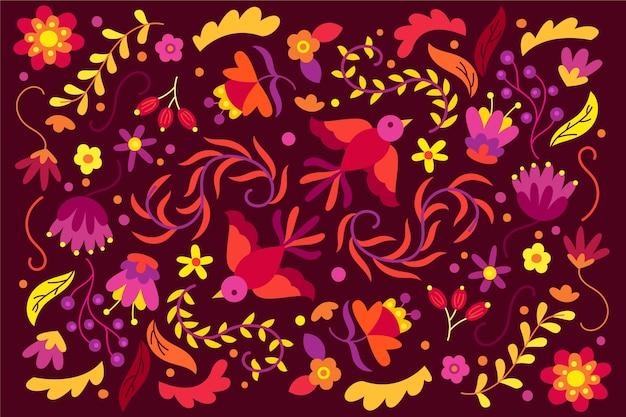 Tema colorato di carta da parati messicana