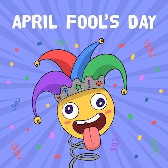Tema del disegno del giorno dei pesci d'aprile