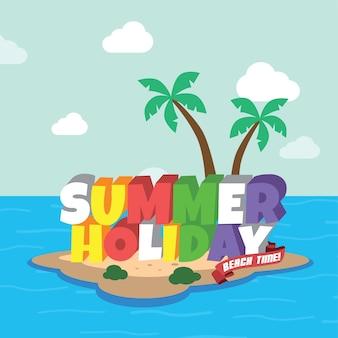 Tema del fumetto retrò vacanze estive