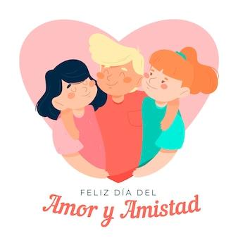 Tema del giorno dell'amore e dell'amicizia