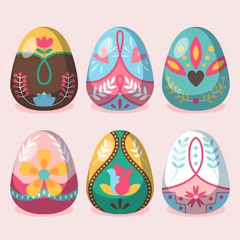 Tema del giorno di pasqua per la raccolta delle uova
