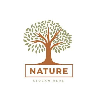 Tema del logo della vita dell'albero