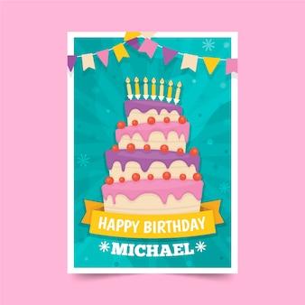 Tema del modello dell'invito di compleanno dei bambini