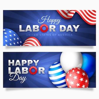 Tema del modello della bandiera di festa del lavoro