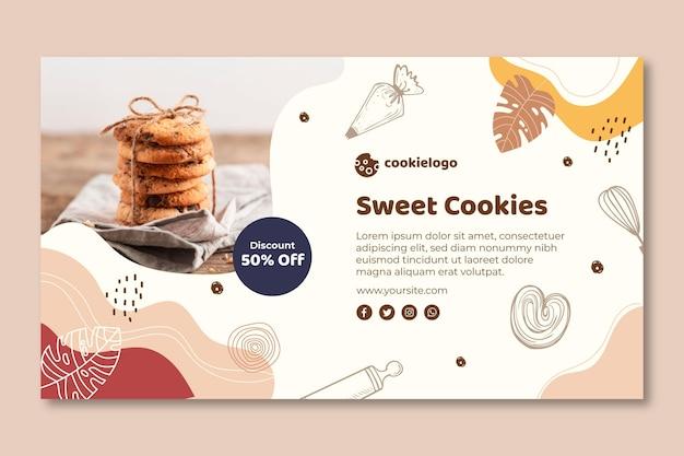 Tema del modello di banner di biscotti