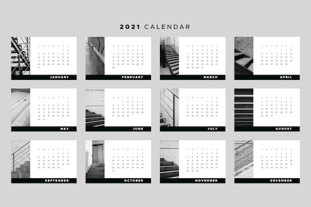 Tema del modello di calendario 2021