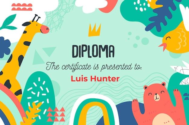 Tema del modello di diploma