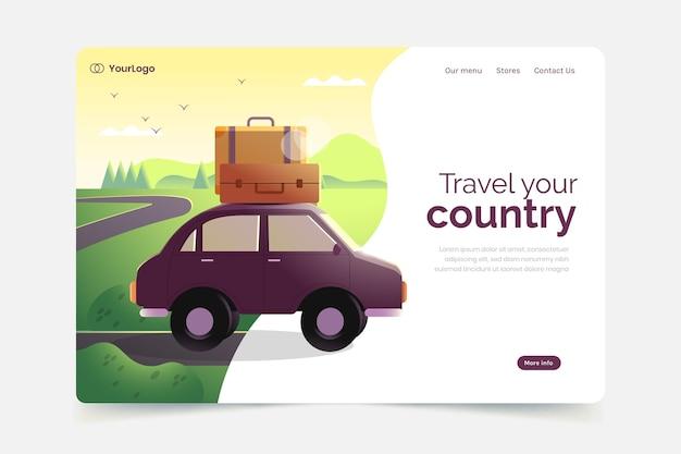 Tema del modello di pagina di destinazione del turismo locale