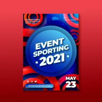 Tema del poster dell'evento sportivo