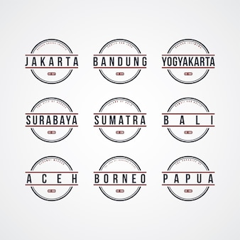 Tema dell'etichetta indonesia