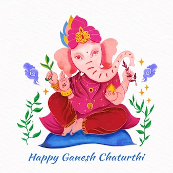 Tema dell'evento chaturthi di ganesh