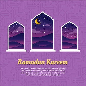 Tema dell'evento ramadan design piatto