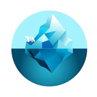 Tema dell'illustrazione dell'iceberg