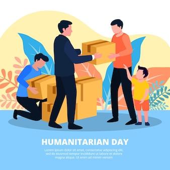 Tema dell'illustrazione di giornata umanitaria mondiale