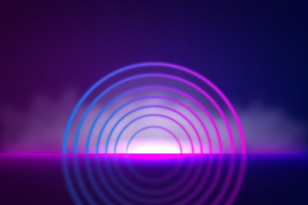 Tema della carta da parati delle luci al neon di forme geometriche