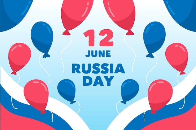 Tema della carta da parati di giorno della russia