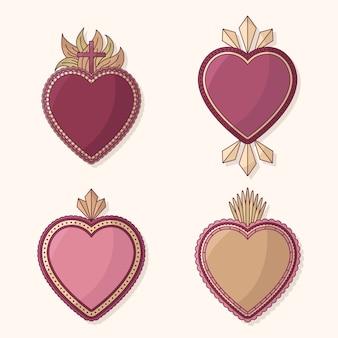 Tema della collezione sacro cuore