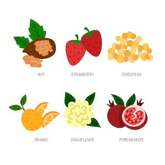 Tema della collezione superfood