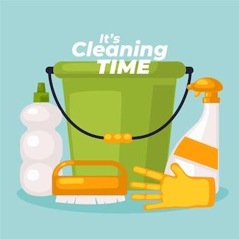 Tema delle attrezzature per la pulizia delle superfici