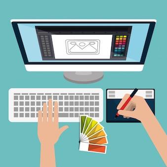 Tema di arte e professione di graphic design