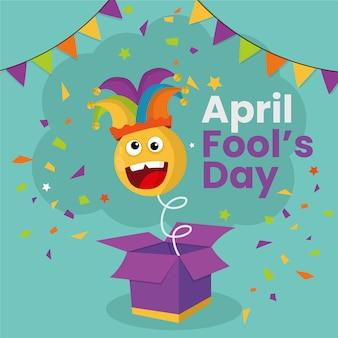 Tema di celebrazione del giorno dei pesci d'aprile