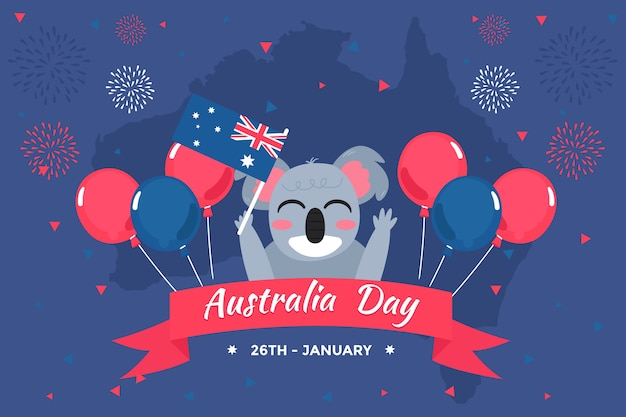 Tema di design piatto per l'evento del giorno in australia