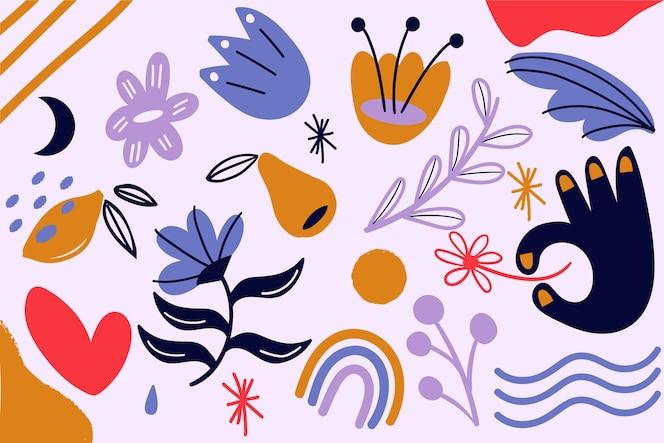 Tema di forme organiche astratte per il tema della carta da parati