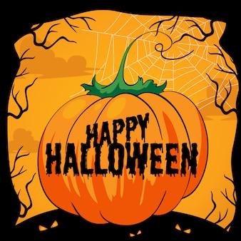 Tema di Halloween con zucca